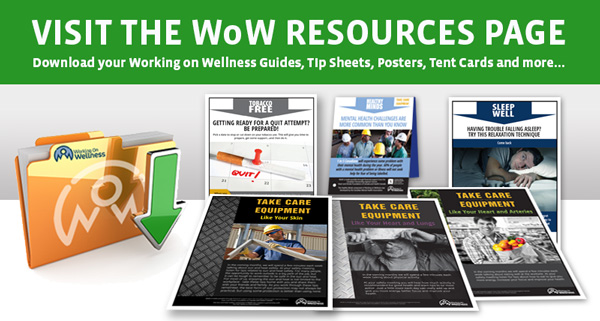 working on wellness resources page link