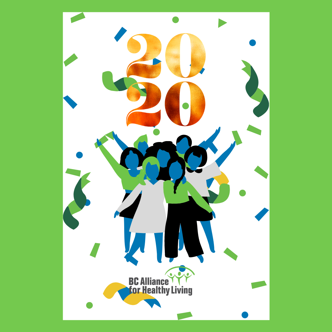 Vector image of people celebrating with confetti