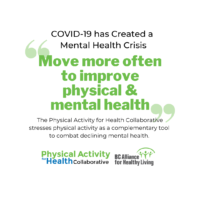 COVID-19 has Created a Mental Health Crisis BC Experts say: 'Move More Often to Improve Physical AND Mental Health'